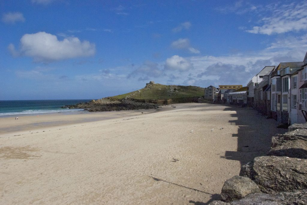 St Ives, strand, vandringsresa, trädgårdsresa