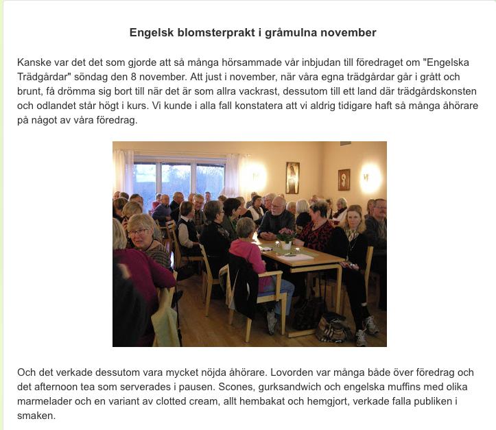 Eng trädgårdar föredrag i Örebro